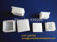 trailer plastic end square cap,plastic end square cap, square ribbed inserts-trailer-tubes , trailer parts 30mm x 30mm
