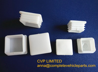 trailer plastic end square cap,plastic end square cap, square ribbed inserts-trailer-tubes , trailer parts 30mm x 30mm
