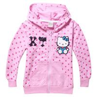 New 2014 Children 2-8Y Children's Girls Autumn Girls Hoodies Cotton Girls Clothing Fashion Character Girls Hoodies Wholesale