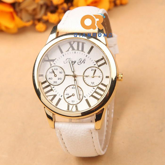 Business Fashion Women Dress Watch Luxury Brand Casual Quartz Geneva Watches leather band Sport Temperament girl wrist watches