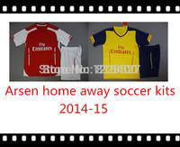 Best quality GIROUD RAMSEY ARTETA CAZORLA ALEXIS WALCOTT KHEDIRA OZIL WILSHERE PODOLSKI soccer kits Football uniform 2014-15