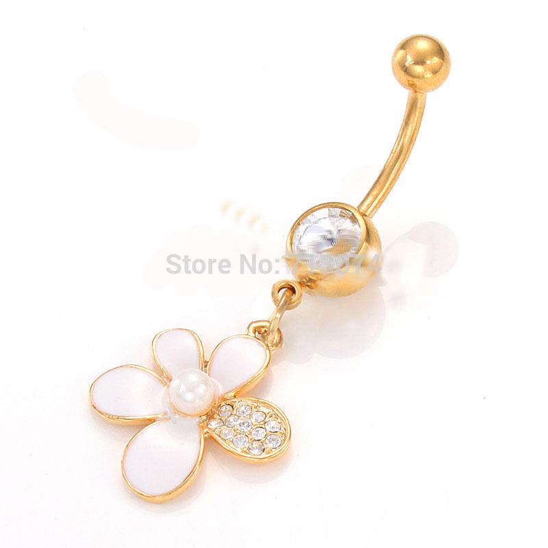20pcs/lot Wholesale Hot Sale Cute Bowknot Dangle Belly Rings Body piercing Navel Rings(China (Mainland))