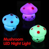 Mushroom Shaped LED Novelty Lamp Night Light Colorful Changing Colors Nightlight Lamp Flashing Toy P4PM