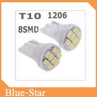 T10 8 SMD 194 168 192 W5W 1206 Auto LED Car Light White 3020 Wedge Light Bulb Lamp CL108