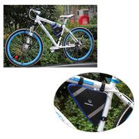 2 Colors Roswheel Mountain Bicycle Bike Bag Front Frame PVC Tube Triangle Bag Blue/Orange H8283 H8283BL