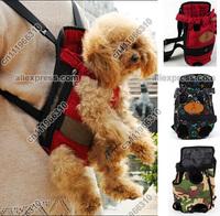 Portable Canvas Pet Dog Cat Puppy Carrying Carrier Case Comfort Travel Tote Front Shoulder Bag Backpack Purse Handbag Sling