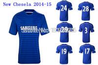 Thai quality Chelse soccer jersey 2014-15.Chelse home blue soccer jersey custom FABREGAS,HAZARD,OSCAR.WILLIAN,David Luiz,ETO'O