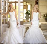 New Fation Real Photo frozen elsa Dress  Bridal Gown Organza Simple Elegant Mermaid vestido de noiva  Wedding Dress