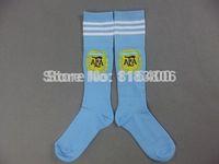 Thai quality 3a Youth soccer socks.Kids Argentina home soccer sock.2014 world cup Argentina Youth soccer sock,Mix order