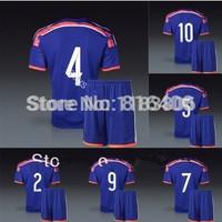 Japan soccer uniform World Cup 2014.Japan home blue jersey+shorts kits.free custom HONDA,KAGAWA,NAGATOMO,ENDO,UCHIDA,OKAZAKI