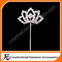 charming 40x28mm crown shape rhinestone cake topper for wedding decoration bulk