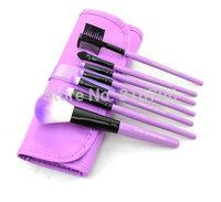 A Set 7Pcs Professional Synthetic Hair Makeup Brush Set Kit Makeup Brushes tools Brand Make Up Brush Set Case Bag