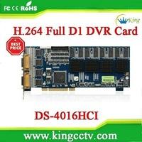 security card Hardware dvr card H.264 16ch smart  video capture Hikvision card DS-4016HCI (DS-4016HCI)
