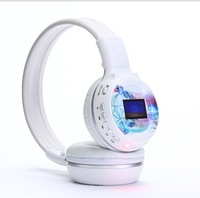 Unique stereophone  Headband screen micro sd card read fm radio headphone Zealot N65S  Multi function computer headset with MIC