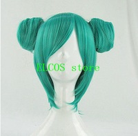 Pre-Sale Lovely Bathrobe VER. Vocaloid MIKU Green Cosplay Wig with Two Buns