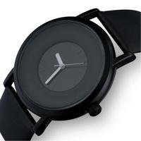 2014 New Sinobi Brand Fashion Casual Men Quartz Wristwatch Simple Elegant Style Leather Strap Gift Watch Men Free Shipping