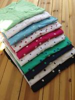 2014 New Women's Long-sleeve Polka Dot Shirt Ladies Cotton Blouse camisas femininas