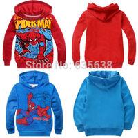 Hot Fashion Spiderman Clothes Kids Boy Sweatshirt Hoodies Pullover Coat Outerwear size 2-8Y