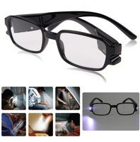 Hot Reading Glasses Dual Led Light Eyeglasses Spectacle Diopter Magnifier Light UP 1.0-4.0 Multi Strength For Men Women