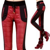 Free Shipping New Arrivals 2014 Winter  Female plus thick velvet pants ,female Slim Elasticf warm down cotton trouses M-3XL