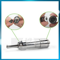 Brand Glass tank dry herb atomizer wax electronic cigarettes big vapor with metal drip tip