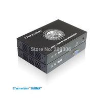 Charmvision EVO-2V, Single Core fiber extend Audio VGA optical fiber transceiver, Multi mode single core, stereo AV transmission