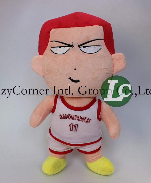 Sakuragi Hanamichi Plush Toys 47cm Slam Dunk Stuffed Animal Dolls Custom Plush Toy 10pcs/lot(China (Mainland))