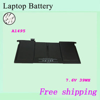 """Brand New 7.6V 39wh Laptop  battery For APPLE  Air """"Core i5"""" 1.3 11""""  A1465(Mid-2013)  A1495 Notebook batteries"""