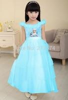 Free shipping ,frozen elsa dress ,Double princess dress of the girls ,frozen dress, kids party dress,5pcs/lot