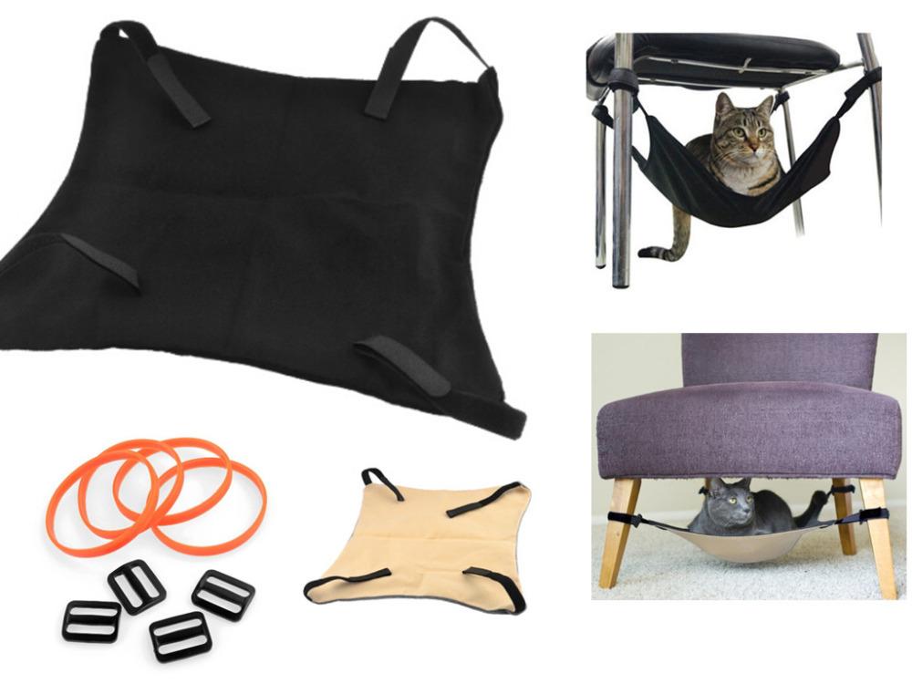 Гамак для кота под стулом