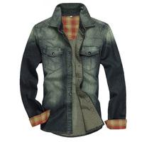 New arrival Plus Size M~XXL Retro Men Denim Shirts High Quality Classic Jeans Jacket Casual Coat Cowboy Clothes