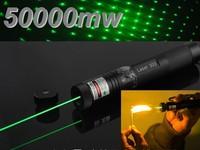 FREE SHIPPINGFree Shipping Green Laser Pointer 5000MW Laser Pen adjustable star burn matchnew