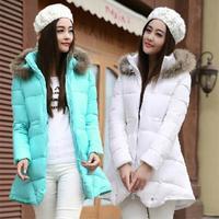 2014 New Designer fashion ladies Long winter ackets women, 4Colors Warm women's winter coat jacket Down overcoat