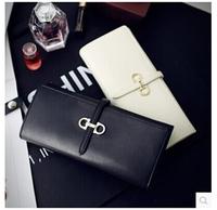 Fashion 2014 Wallet Retro Wallet Women Long Solid Wallets Bags Large Capacity Handbags European PU Leather Purse Clutch