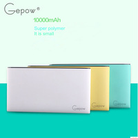 High quality real capacy brand new Poki lithium polymer power bank 10000mah with single usb