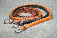 Korean fashion preparation of fine woven pure leather belt Ms. crony leisure