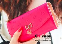 2014 Women Fashion Bear Pendant Wallet Women Long Leather Brand Wallet Ladies Hasp Zipper Purse Clutch Phone Cases Carteira