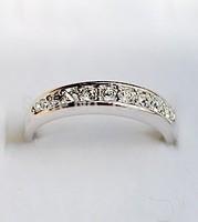 "Rhinestone  ""Silver"" Korean jewelry fashion simple single row of small diamond ring tail ring  Free shipping"