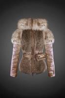 Fashion designer brand winter women down jackets fur coat leather and fur jackets
