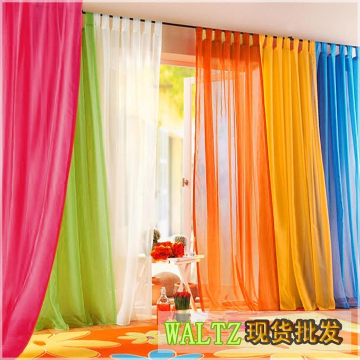 Valsa IHOME cortinas marca : romântico e colorido de seda areia partição cortina para sala de estar loja vitrine do arco-íris cortinas de pano(China (Mainland))