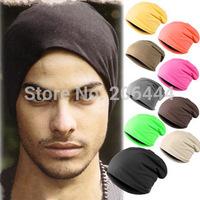 Hot Sale 2014 New Fashion Winter Men Women Solid Color Elastic Hip-Hop Cap Beanie Hat Slouch 10 Colors One Size