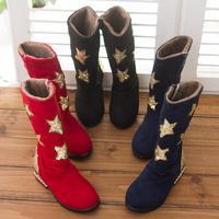 Fashion 2014 new child high boots child kids girls star single princess boots
