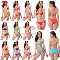 Women 2014 Sexy Brand Beading Decoration Bikini Swimwear Sexy Summer Women Bathing Suit
