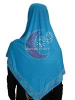 FTB048 wholesale Fashion moon star big square HIJAB SCARF/muslim HIJAB