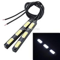 4.5W 380lm 3-COB LED White Daytime Running Light - (12V / 2 PCS) Daytime Running Light / License Plate Light  / Reverse lamp