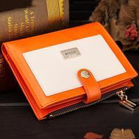 Fashion women bag carteras 2014 popular wallets Hasp Zipper multi-function brief paragraph card bag purse retail free shipping