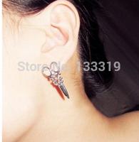 Stylish earrings small scissors metal scissors Free shipping