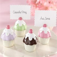 NEW ARRIVAL+Cute Cupcake Desigh Place Card Holders Baby Shower Favors+100pcs/LOT+FREE SHIPPING