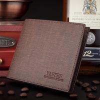 Men wallets Money clip business affairs brand  2014 billfold purse Soft leather women wallet card bag retail free shipping