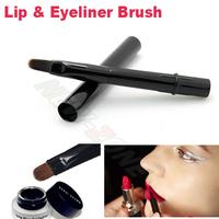 Professional Lip Brush Eyeliner Brush with cover lipstick & eyeliner gel makeup brush